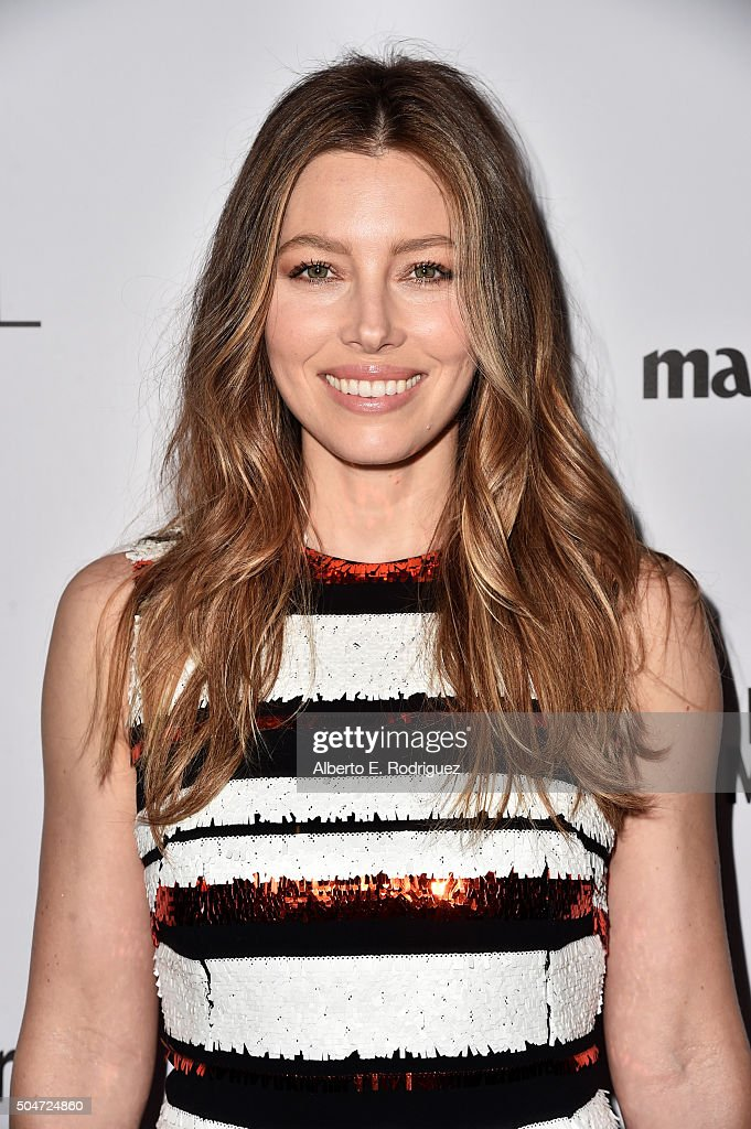 Actress Jessica Biel attends the inaugural Image Maker Awards hosted by Marie Claire at Chateau Marmont on January 12, 2016 in Los Angeles, California.