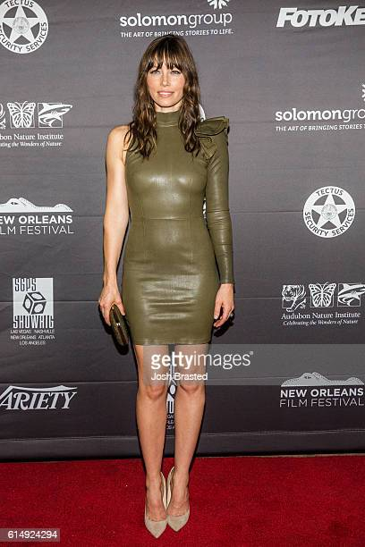Actress Jessica Biel attends the New Orleans Premiere of 'The Book of Love' at the Entergy Giant Screen Theater on October 15 2016 in New Orleans...