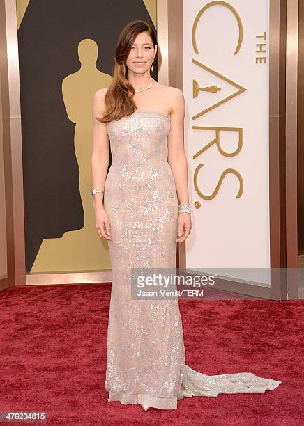 Actress Jessica Biel attends the Oscars held at Hollywood & Highland Center on March 2, 2014 in Hollywood, California.