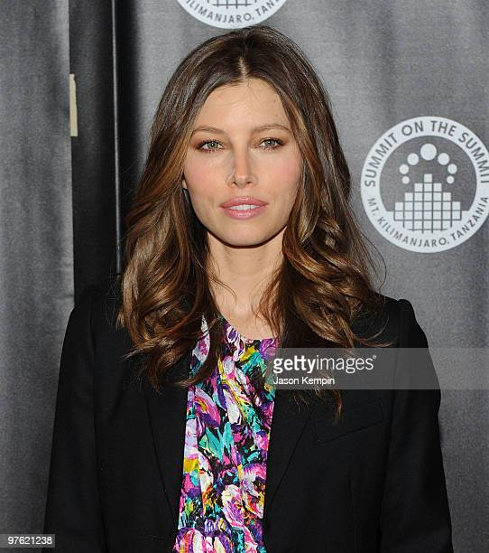 Actress Jessica Biel attends the premiere of Summit on the Summit Kilimanjaro at the Tribeca Grand Hotel on March 10 2010 in New York City