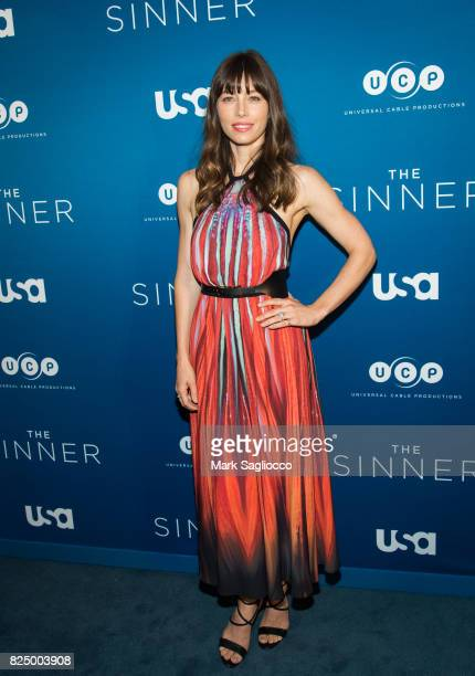 Actress Jessica Biel attends the 'The Sinner' Series Premiere Screening at the Crosby Street Hotel on July 31 2017 in New York City