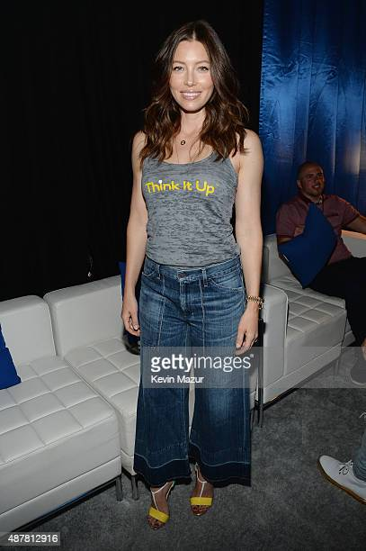 Actress Jessica Biel attends the Think It Up education initiative telecast for teachers and students hosted by Entertainment Industry Foundation at...