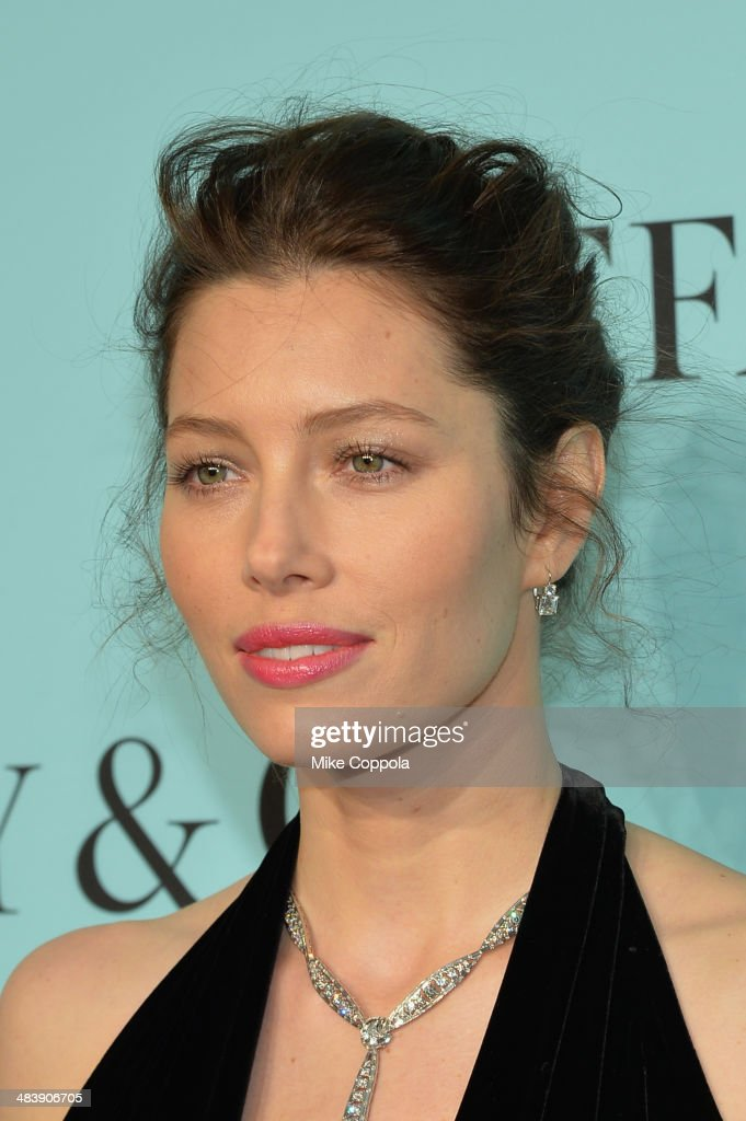 Actress Jessica Biel attends the Tiffany Debut of the 2014 Blue Book on April 10, 2014 at the Guggenheim Museum in New York, United States.