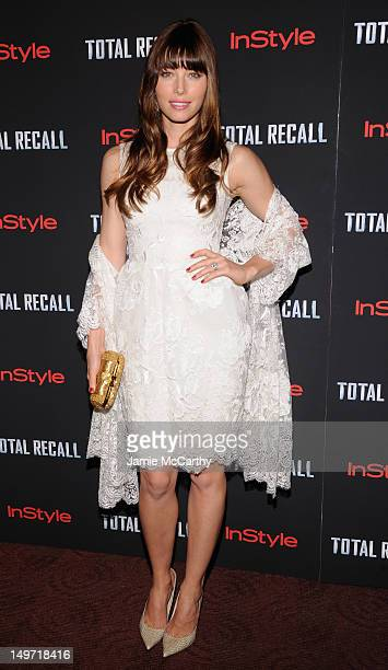 Actress Jessica Biel attends the Total Recall New York Premiere at Chelsea Clearview Cinemas on August 2 2012 in New York United States