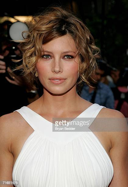 Actress Jessica Biel attends Yari Film Group's premiere of The Illusionist at Chelsea West Cinemas August 15 2006 in New York City