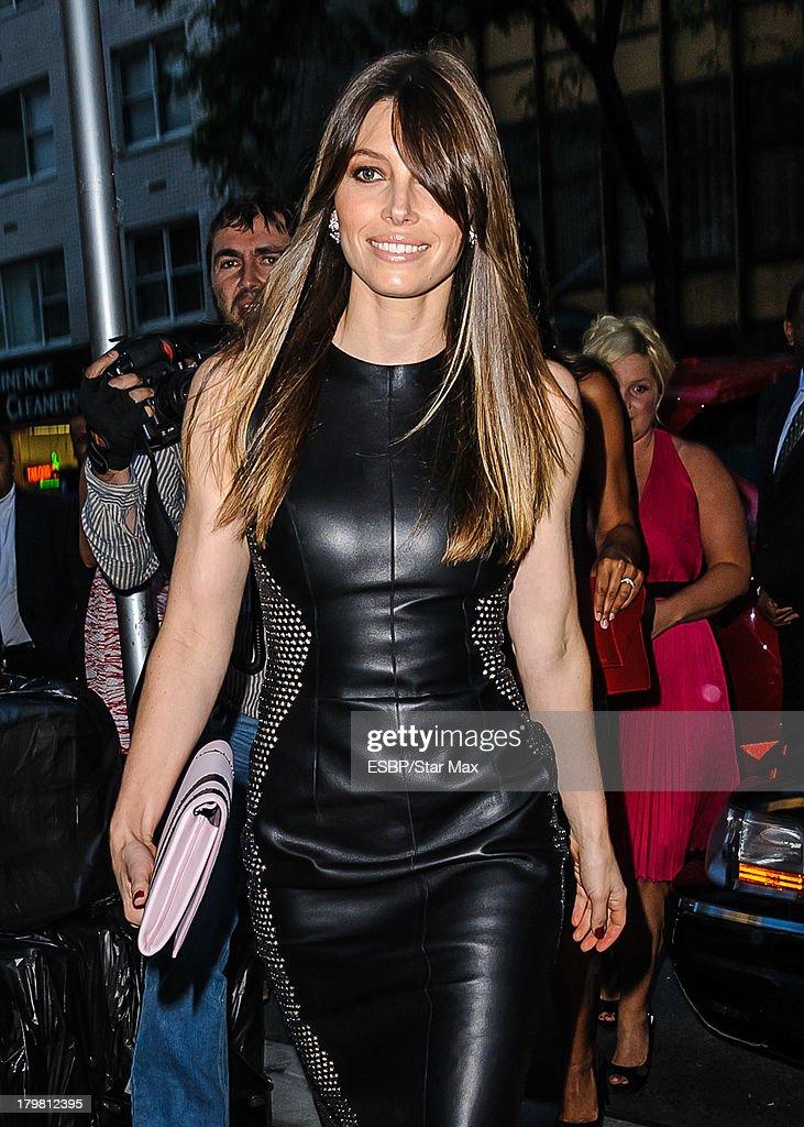 Actress Jessica Biel is seen on September 6, 2013 in New York City.