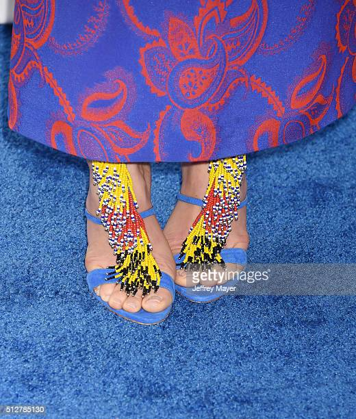 Actress Jessica Biel shoe detail at the 2016 Film Independent Spirit Awards on February 27 2016 in Santa Monica California