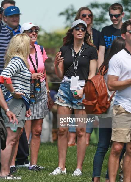 Actress Jessica Biel watches her husband, Justin Timberlake, during the second round of the PGA TOUR Champions Bass Pro Shops Legends of Golf at Big...