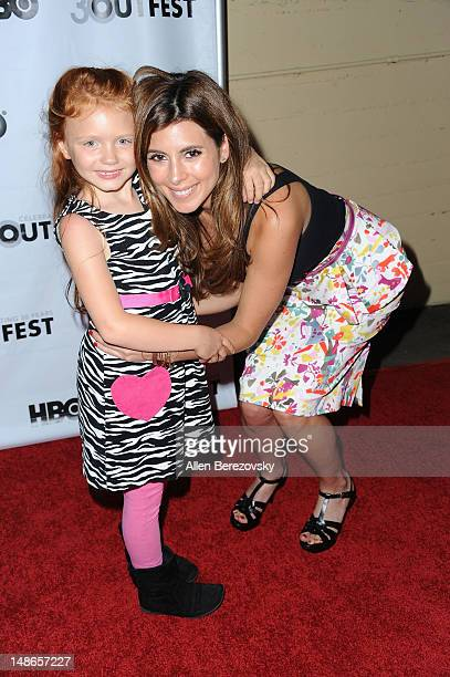 Actress Jessica Brown and actress JamieLynn Sigler arrive at the 2012 Outfest Film Festival's 'I Do' premiere screening at John Anson Ford...