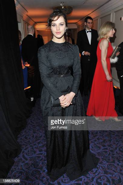 Actress Jessica Brown Findlay attends the Orange British Academy Film Awards 2012 after party at Grosvenor House on February 12 2012 in London England
