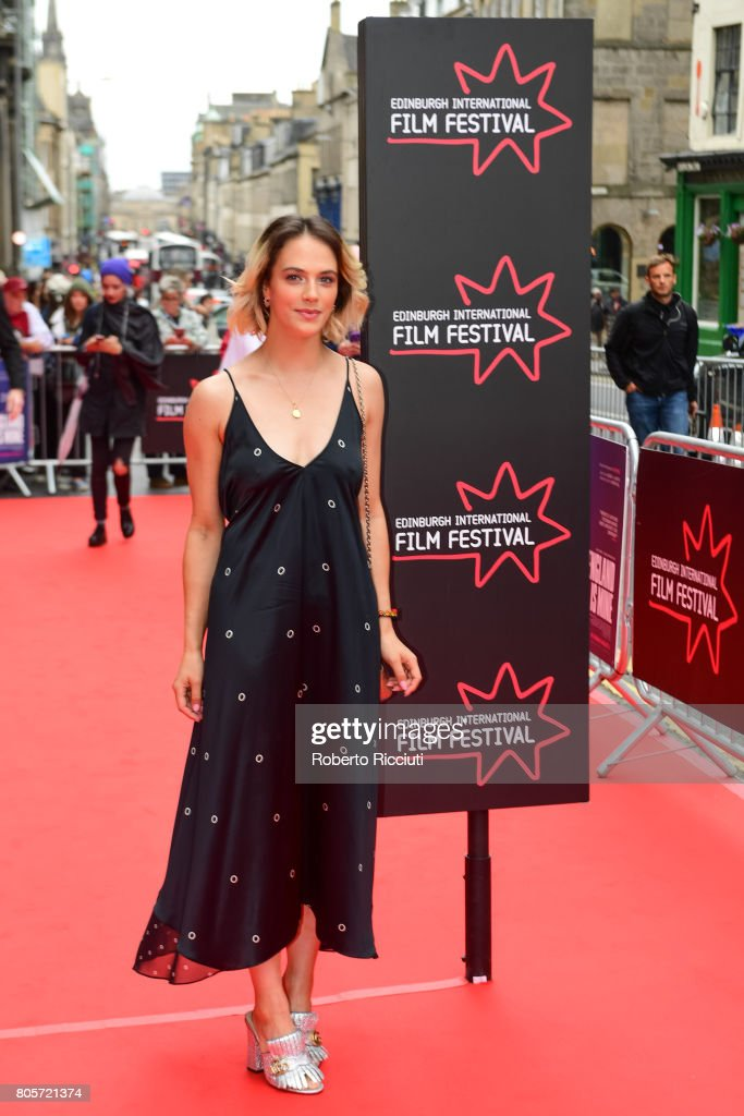 Actress Jessica Brown Findlay attends the world premiere for 'England is mine' and closing event of the 71st Edinburgh International Film Festival at Festival Theatre on July 2, 2017 in Edinburgh, Scotland.