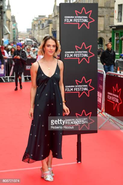 Actress Jessica Brown Findlay attends the world premiere for 'England is mine' and closing event of the 71st Edinburgh International Film Festival at...