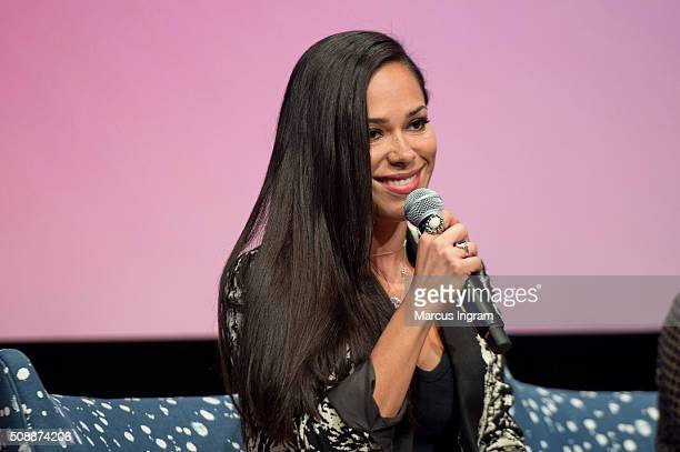Actress Jessica Camacho speaks on stage during 'Sleepy Hollow' event during SCAD aTVfest 2016 Day 3 at the SCADShow Performing Arts Theater on...