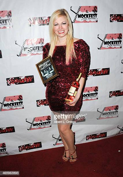 Actress Jessica Cameron attends the ShockFest Film Festival Awards held at Raleigh Studios on January 11 2014 in Los Angeles California
