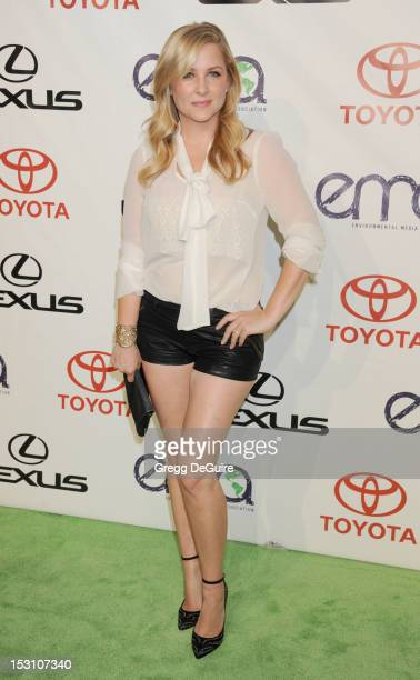 Actress Jessica Capshaw arrives at the 2012 Environmental Media Awards at Warner Bros Studios on September 29 2012 in Burbank California