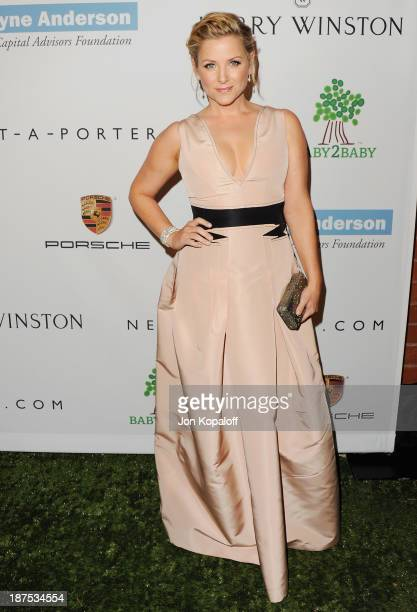 Actress Jessica Capshaw arrives at the 2nd Annual Baby2Baby Gala at The Book Bindery on November 9 2013 in Culver City California