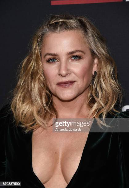 Actress Jessica Capshaw arrives at the 300th Episode Celebration for ABC's 'Grey's Anatomy' at TAO Hollywood on November 4 2017 in Los Angeles...