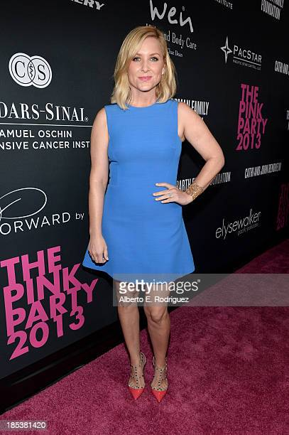 Actress Jessica Capshaw attends Elyse Walker Presents The Pink Party 2013 hosted by Anne Hathaway at Barker Hangar on October 19 2013 in Santa Monica...