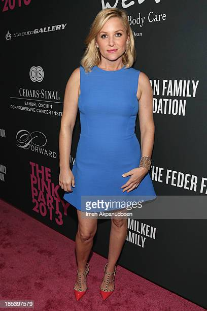 Actress Jessica Capshaw attends FIJI Water at the 9th Annual Pink Party Benefiting The CedarsSinai Women's Cancer Program at HANGAR8 on October 19...