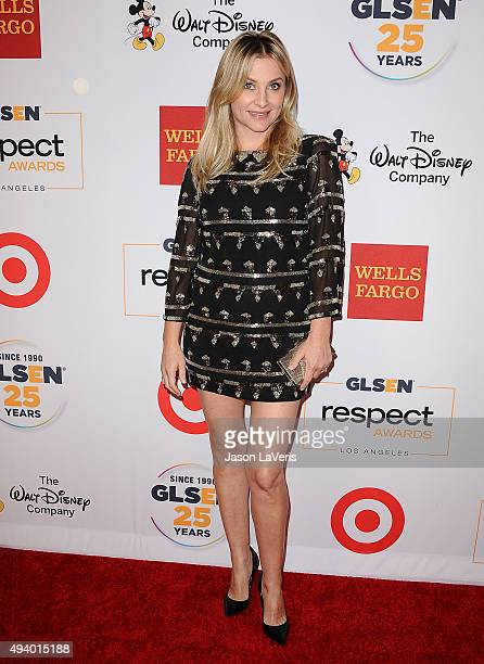 Actress Jessica Capshaw attends the 2015 GLSEN Respect Awards at the Beverly Wilshire Four Seasons Hotel on October 23 2015 in Beverly Hills...