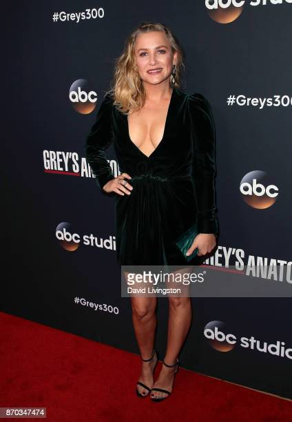 Actress Jessica Capshaw attends the 300th episode celebration for ABC's 'Grey's Anatomy' at TAO Hollywood on November 4 2017 in Los Angeles California