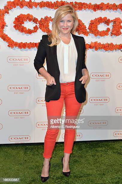 Actress Jessica Capshaw attends the 3rd Annual Coach Evening to benefit Children's Defense Fund at Bad Robot on April 10 2013 in Santa Monica...