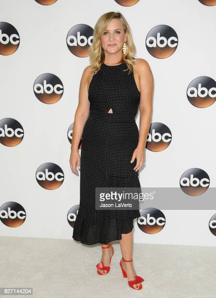 Actress Jessica Capshaw attends the Disney ABC Television Group TCA summer press tour at The Beverly Hilton Hotel on August 6 2017 in Beverly Hills...