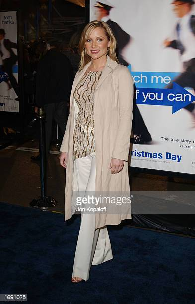 Actress Jessica Capshaw attends the premiere of Catch Me If You Can at the Mann Village Theatre December 16 2002 in Westwood California