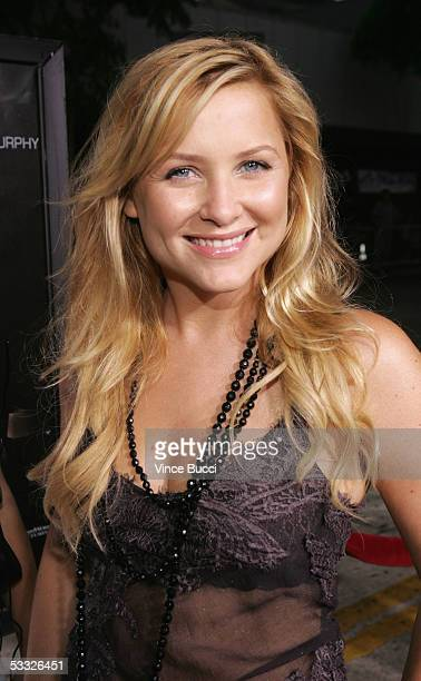 Actress Jessica Capshaw attends the premiere of the DreamWorks' film Red Eye at the Mann Bruin Theatre on August 4 2005 in Westwood California