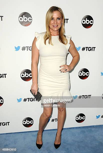 Actress Jessica Capshaw attends the #TGIT premiere event hosted by Twitter at Palihouse Holloway on September 20 2014 in West Hollywood California
