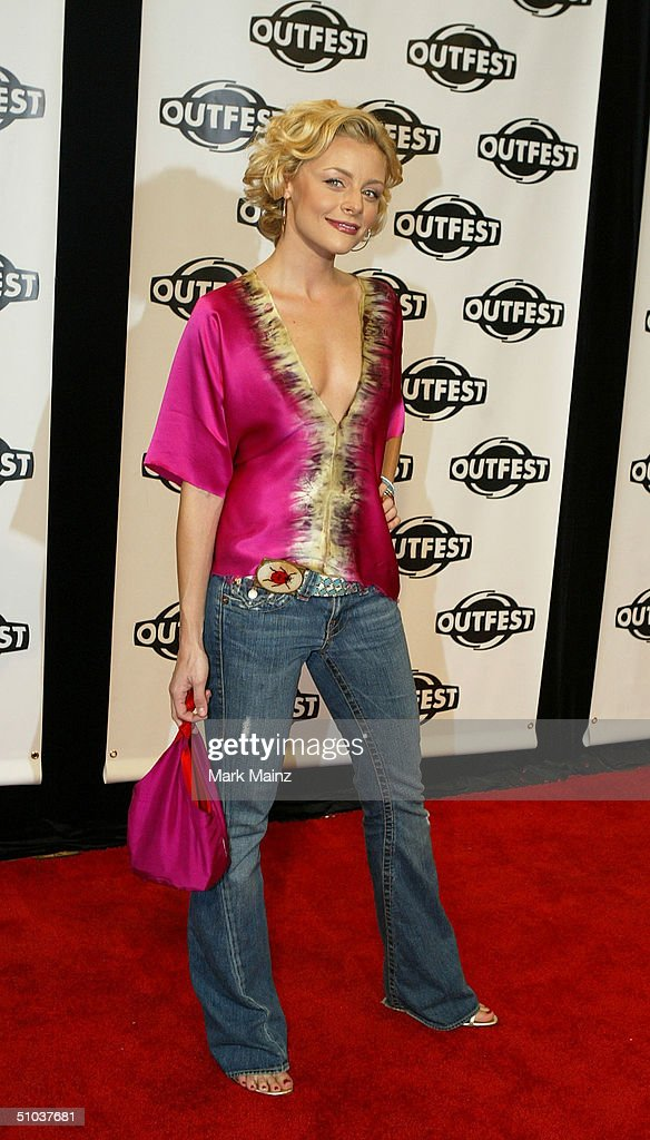 Actress Jessica Cauffiel attends the opening night gala of 'Outfest 2004: The 22nd L.A. Gay and Lesbian Film Festival' on July 8, 2004 at the Orpheum Theatre, in Los Angeles, California.