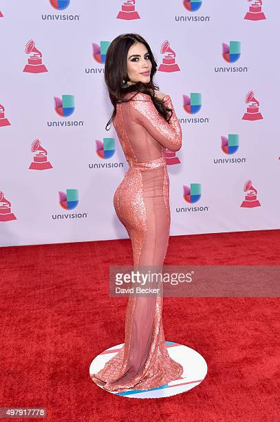 Actress Jessica Cediel attends the 16th Latin GRAMMY Awards at the MGM Grand Garden Arena on November 19 2015 in Las Vegas Nevada
