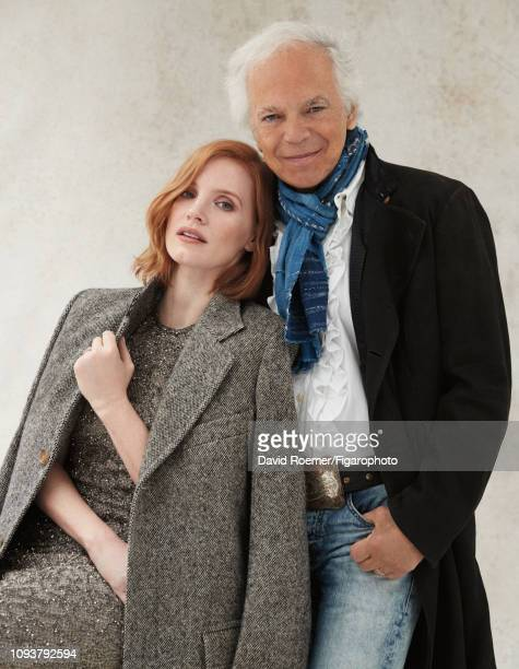 Actress Jessica Chastain and fashion designer Ralph Lauren are photographed for Madame Figaro on June 22, 2018 in New York, United States. Jessica:...