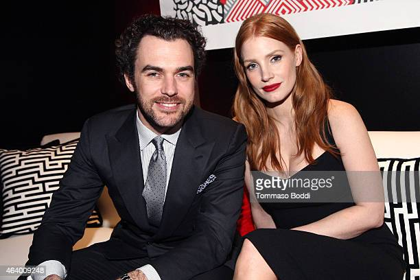 Actress Jessica Chastain and fashion executive Gian Luca Passi attend the 87th annual Academy Awards Oscar Week celebrates Foreign Language Films...