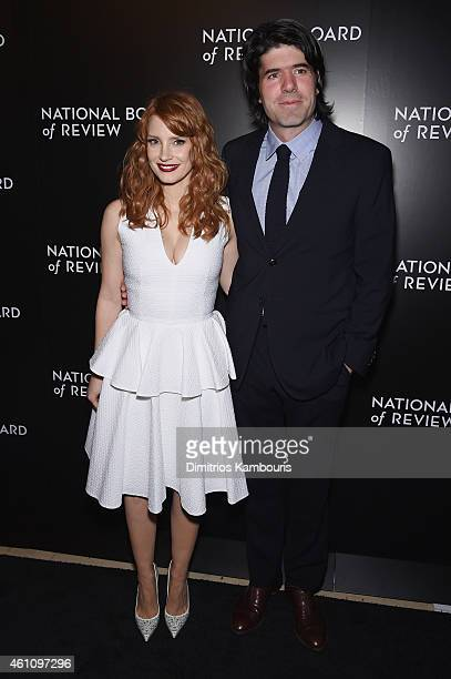 Actress Jessica Chastain and JC Chandor attend the 2014 National Board of Review Gala at Cipriani 42nd Street on January 6 2015 in New York City