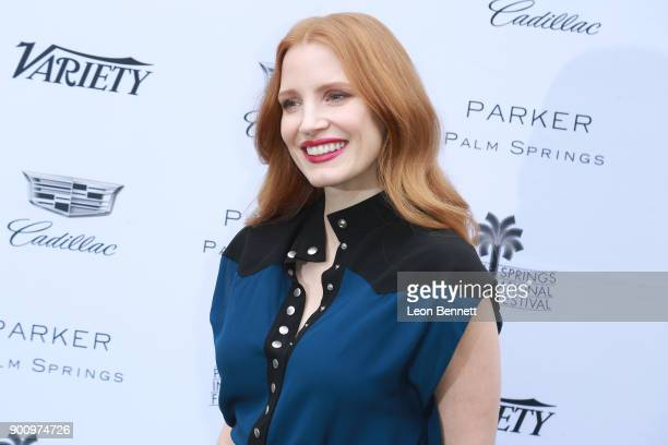 Actress Jessica Chastain arrived at the Variety's Creative Impact Awards And 10 Directors To Watch At The 29th Annual Palm Springs International Film...