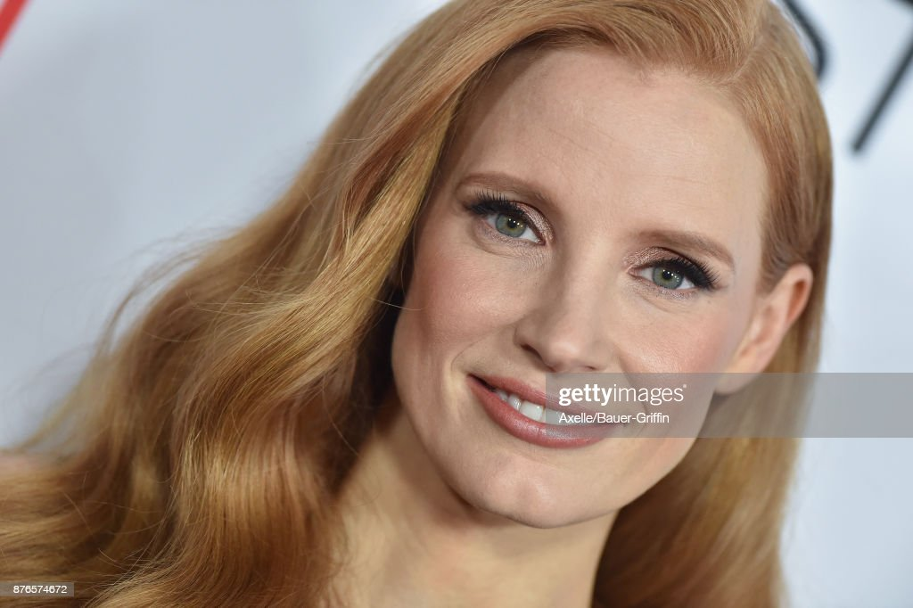Actress Jessica Chastain arrives at AFI FEST 2017 Closing Night Gala Screening of 'Molly's Game' at TCL Chinese Theatre on November 16, 2017 in Hollywood, California.