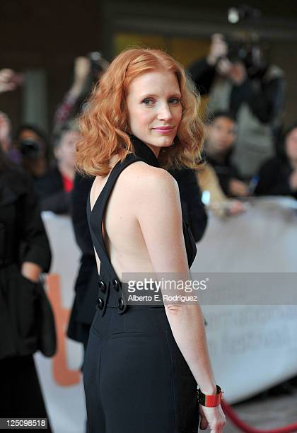 Actress Jessica Chastain arrives at Take Shelter Premiere at Ryerson Theatre during the 2011 Toronto International Film Festival on September 15 2011...