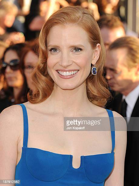Actress Jessica Chastain arrives at the 18th Annual Screen Actors Guild Awards held at The Shrine Auditorium on January 29, 2012 in Los Angeles,...