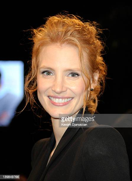 Actress Jessica Chastain arrives at the 2012 Film Independent Spirit Awards on February 25 2012 in Santa Monica California
