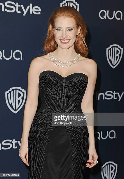 Actress Jessica Chastain arrives at the 2014 InStyle And Warner Bros 71st Annual Golden Globe Awards PostParty on January 12 2014 in Beverly Hills...