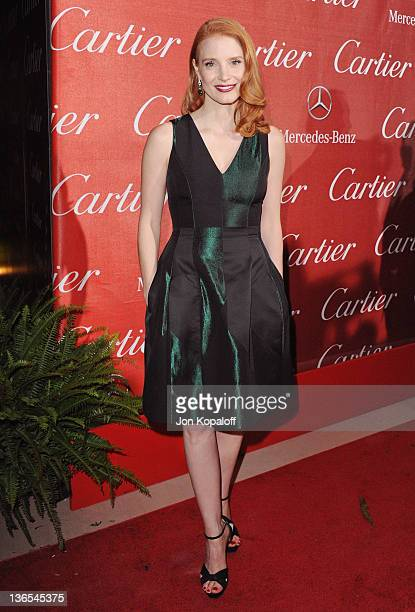 Actress Jessica Chastain arrives at the 23rd Annual Palm Springs International Film Festival Awards Gala at Palm Springs Convention Center on January...