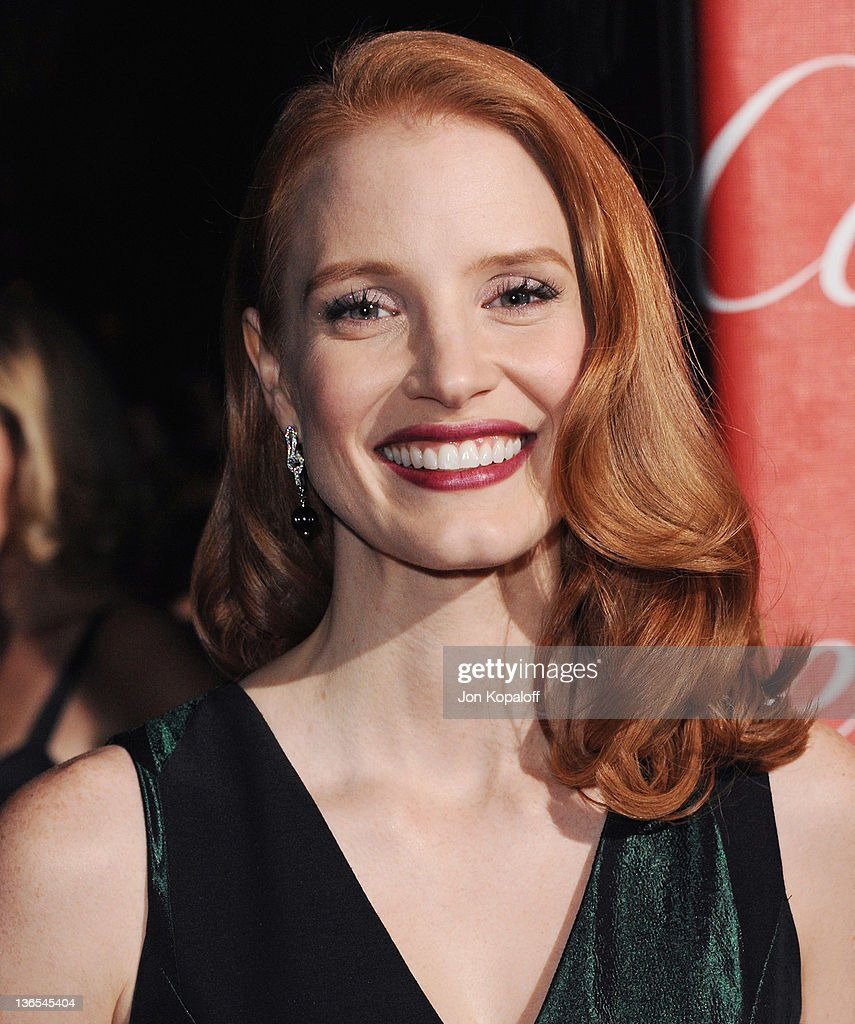 Actress Jessica Chastain arrives at the 23rd Annual Palm Springs International Film Festival Awards Gala at Palm Springs Convention Center on January 7, 2012 in Palm Springs, California.