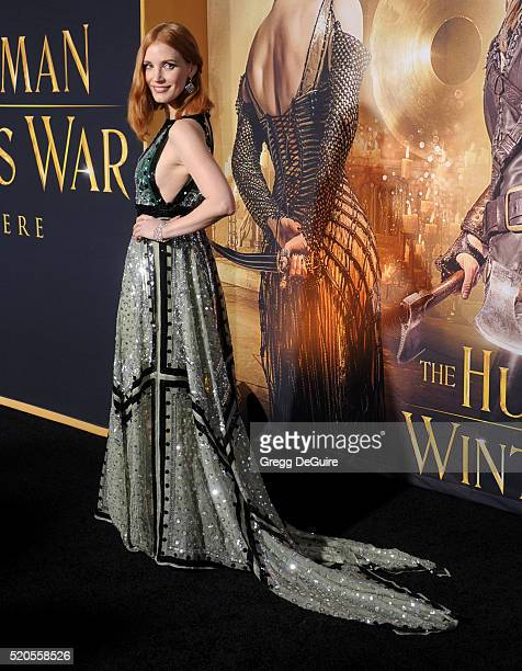 Actress Jessica Chastain arrives at the premiere of Universal Pictures' The Huntsman Winter's War on April 11 2016 in Westwood California