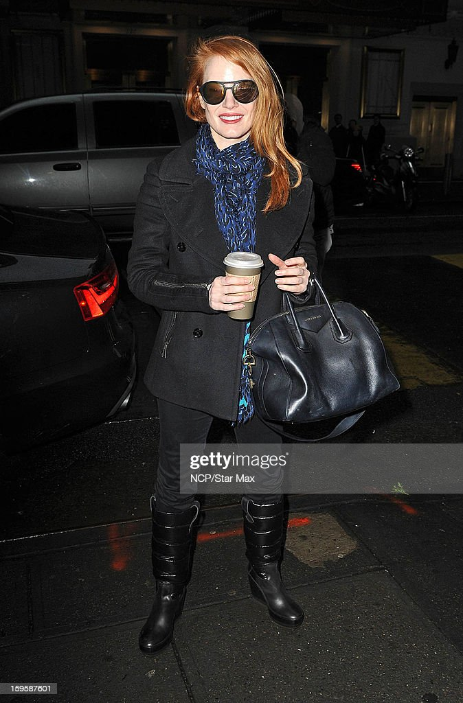 Actress Jessica Chastain as seen on January 16, 2013 in New York City.
