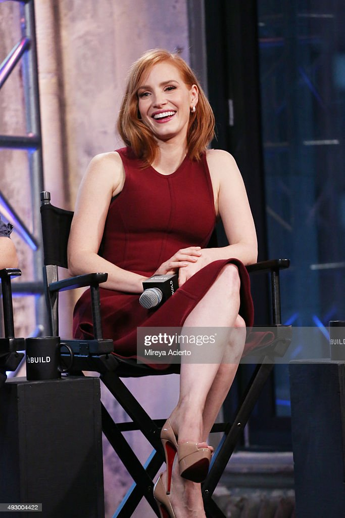 Actress Jessica Chastain at AOL Studios In New York on October 16, 2015 in New York City.