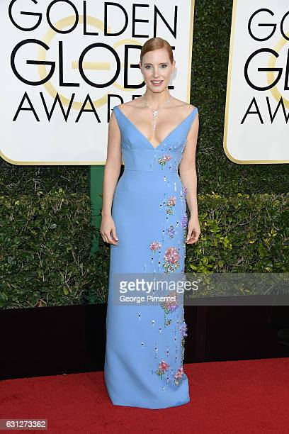 Actress Jessica Chastain attends 74th Annual Golden Globe Awards held at The Beverly Hilton Hotel on January 8 2017 in Beverly Hills California