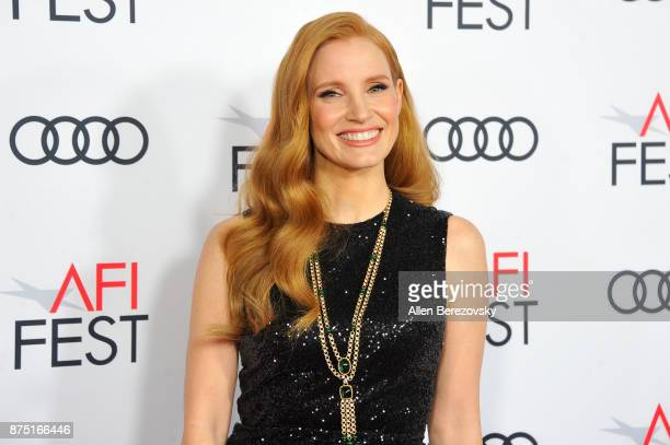 Actress Jessica Chastain attends AFI FEST 2017 Closing Night Gala Screening of 'Molly's Game' at TCL Chinese Theatre on November 16 2017 in Hollywood...