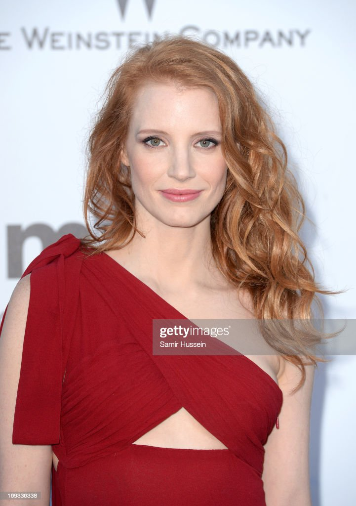 Actress Jessica Chastain attends amfAR's 20th Annual Cinema Against AIDS during The 66th Annual Cannes Film Festival at Hotel du Cap-Eden-Roc on May 23, 2013 in Cap d'Antibes, France.