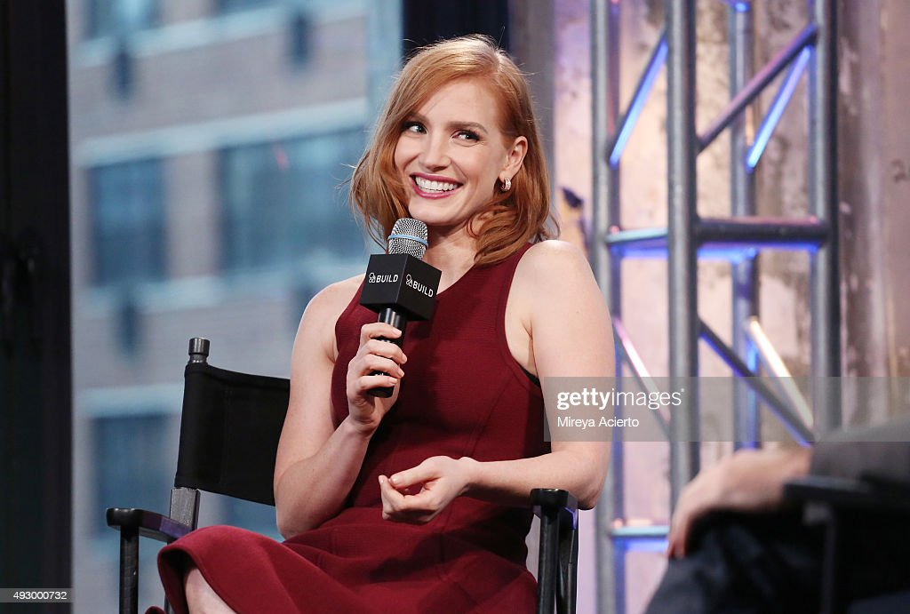 Actress Jessica Chastain attends AOL BUILD Presents 'Crimson Peak' at AOL Studios on October 16, 2015 in New York City.